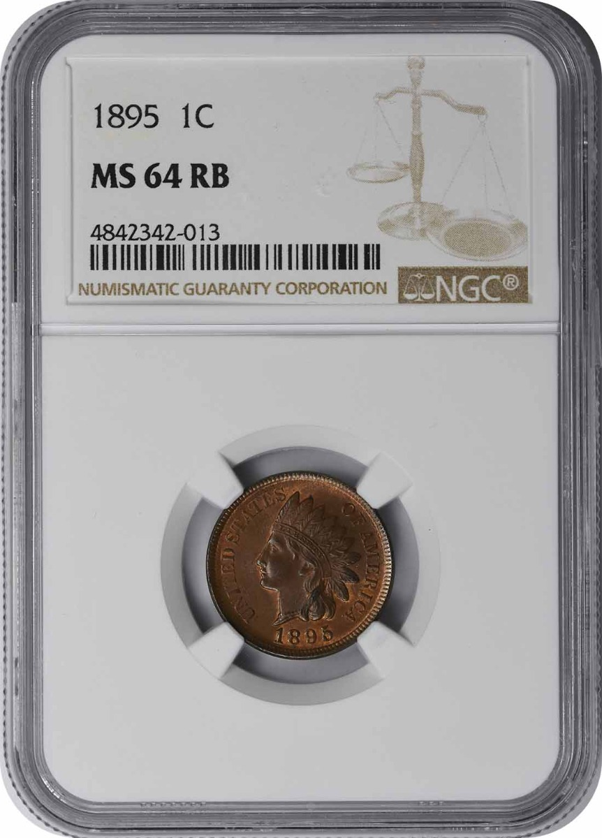 1895 Indian Cent MS64RB NGC