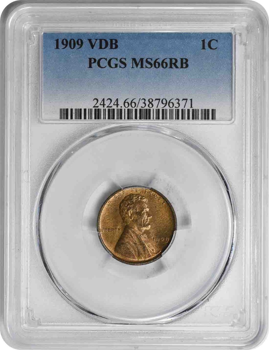 1909-P VDB Lincoln Cent MS66RB PCGS