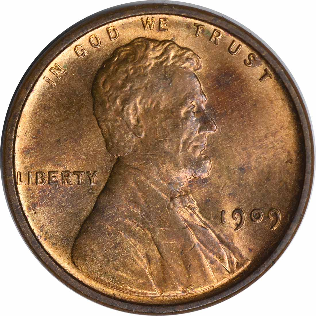 1909-P Lincoln Cent, MS63, Uncertified