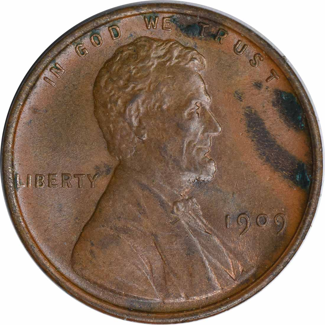1909-P Lincoln Cent AU Uncertified