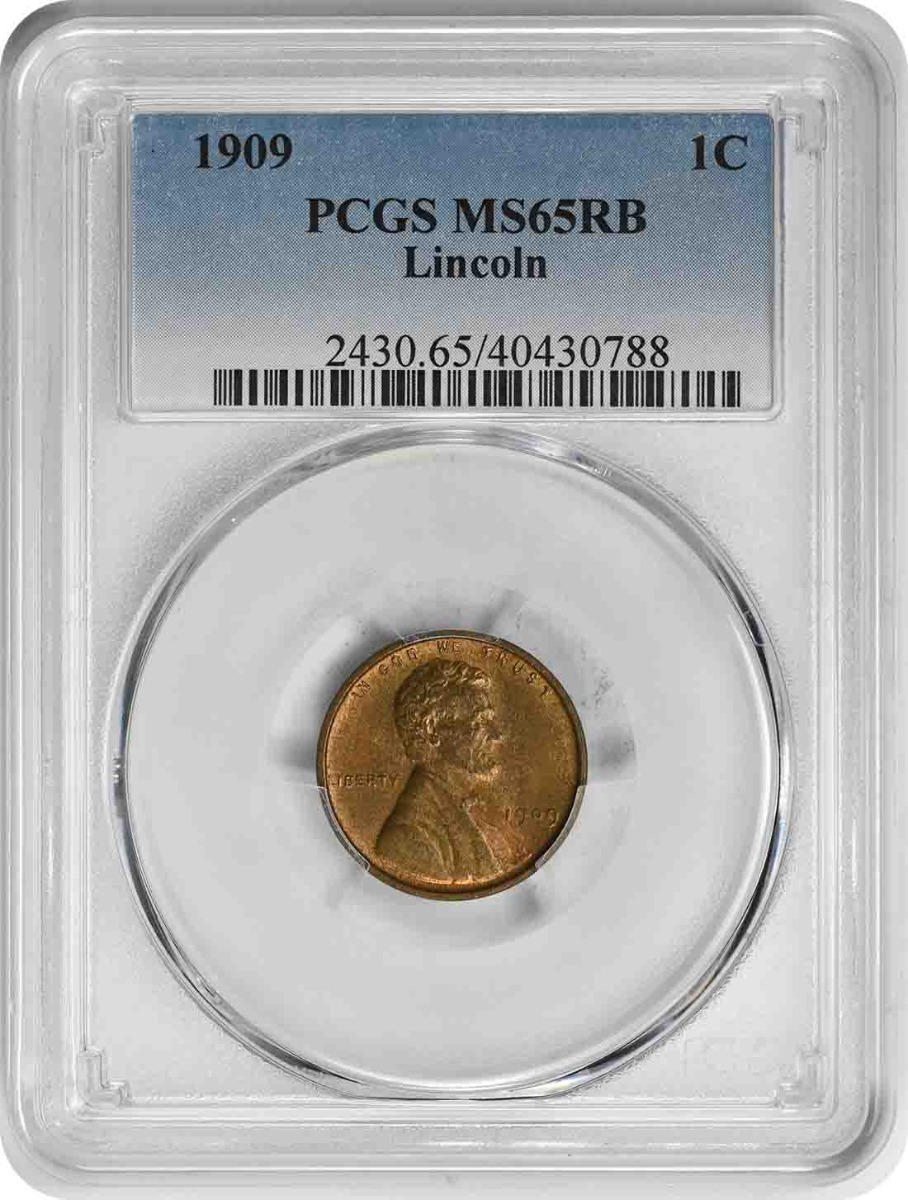 1909-P Lincoln Cent MS65RB PCGS