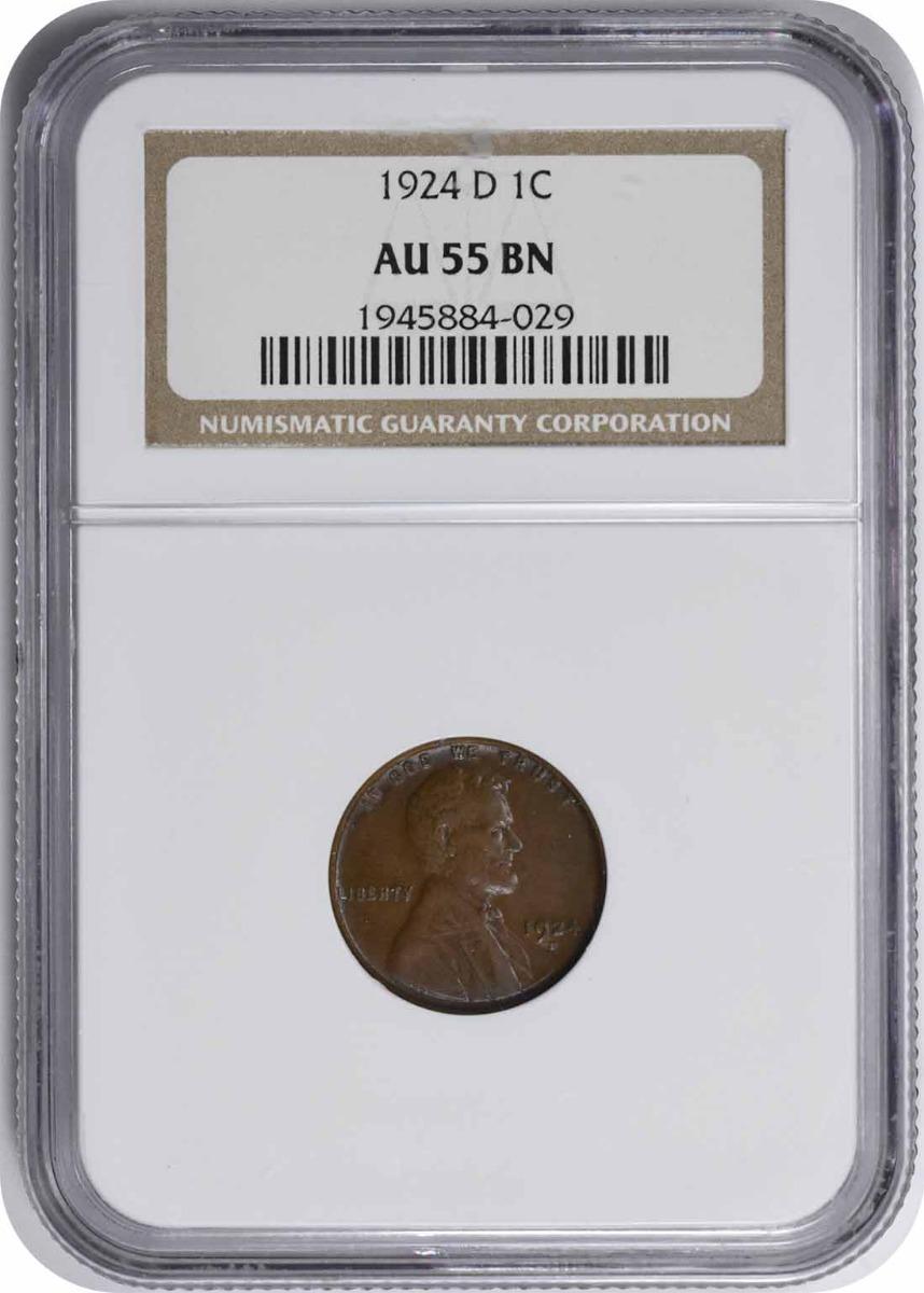 1924-D Lincoln Cent AU55BN NGC