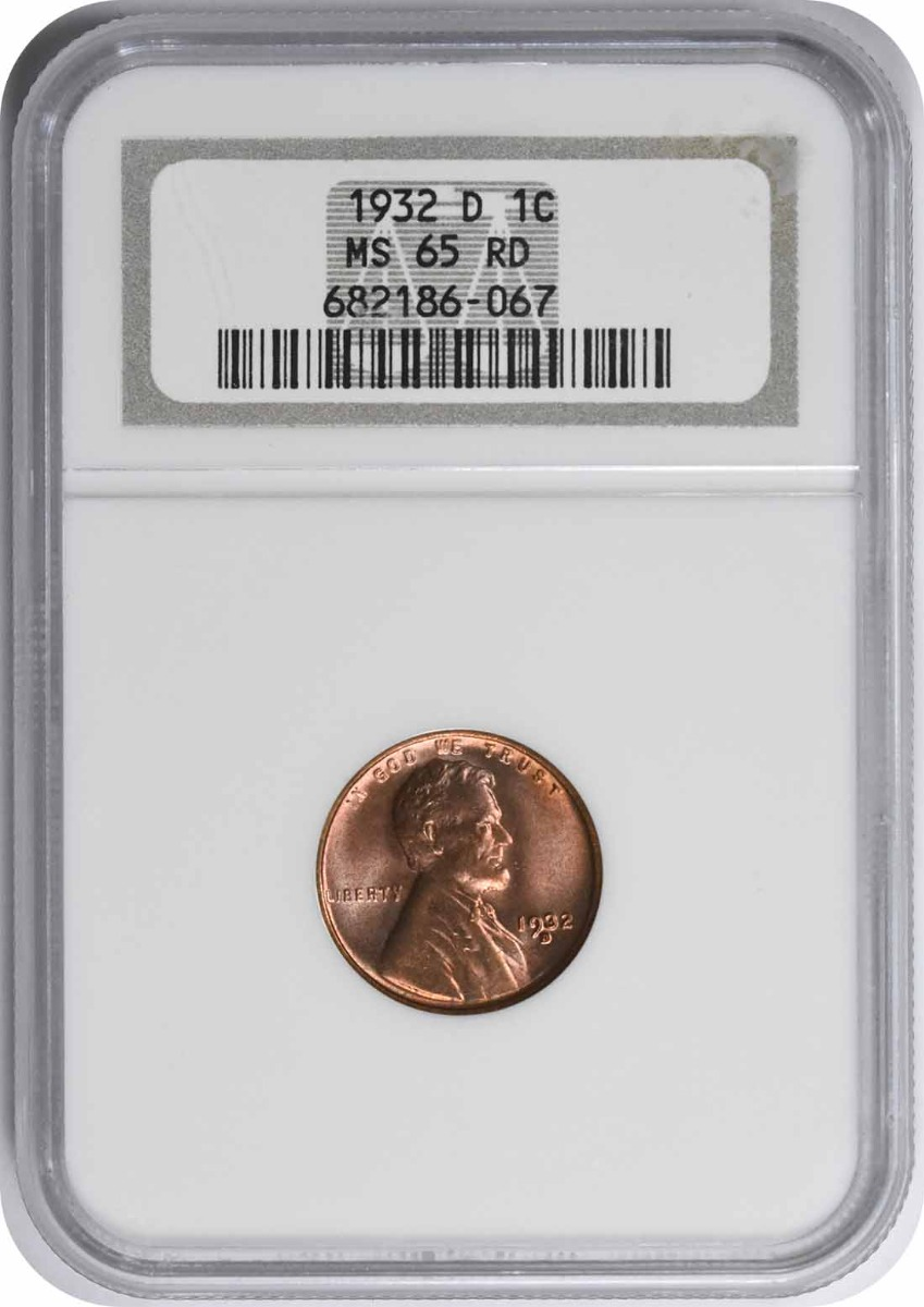 1932-D Lincoln Cent MS65RD NGC