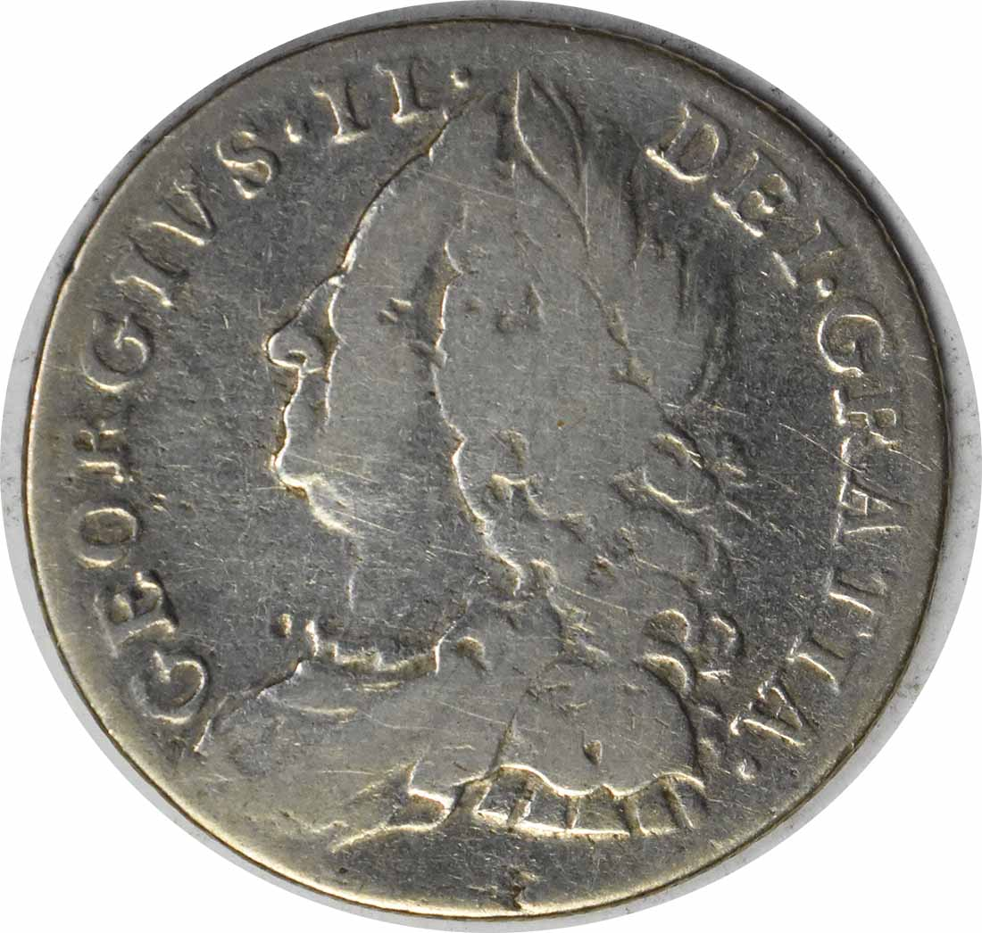 1758/7 Great Britain 6 Pence KM 582.2 VF Uncertified