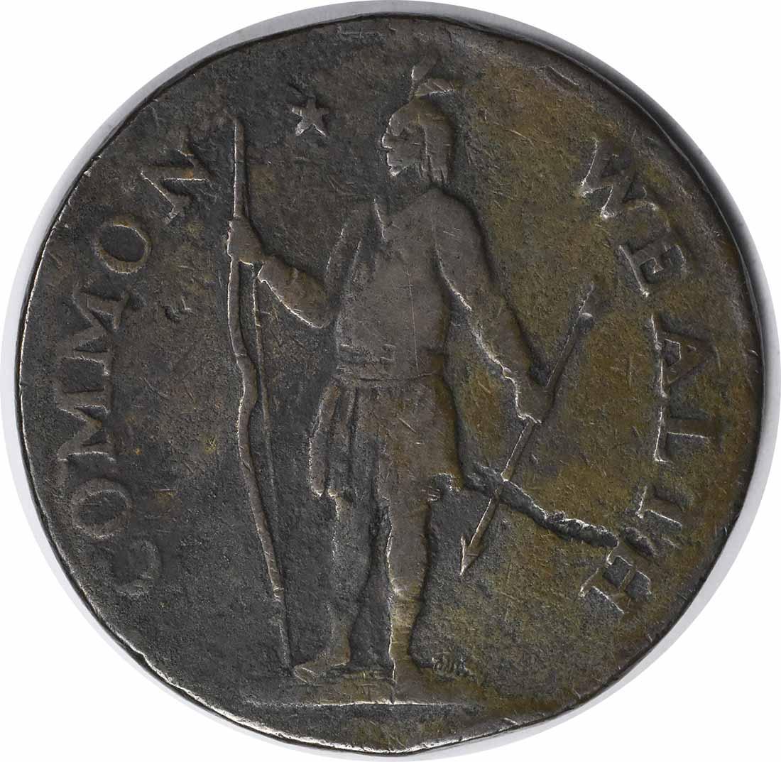 1787 Massachusetts Cent Horned Eagle VF Uncertified