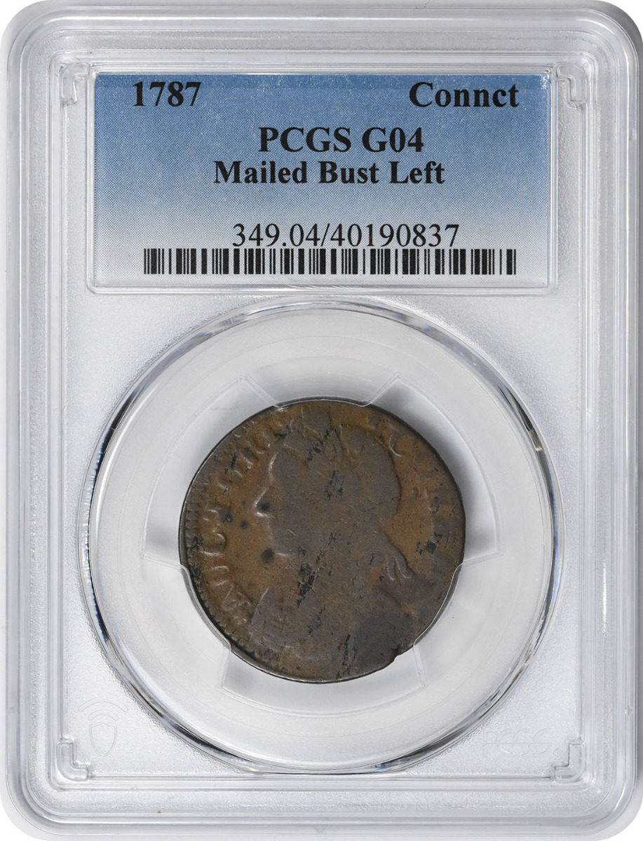 1787 Connecticut Mailed Bust Left G04 PCGS