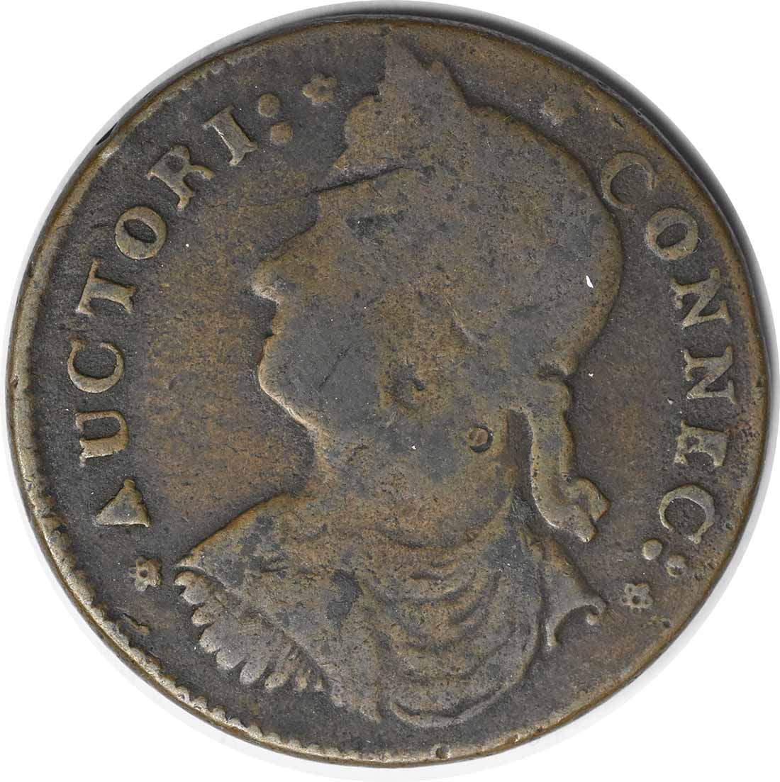 1787 Connecticut F Facing Left Uncertified