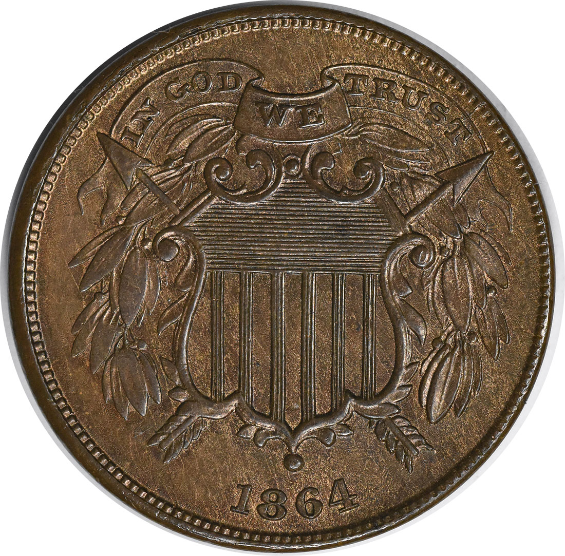 1864 Two Cent Small Motto MS63 Uncertified #141
