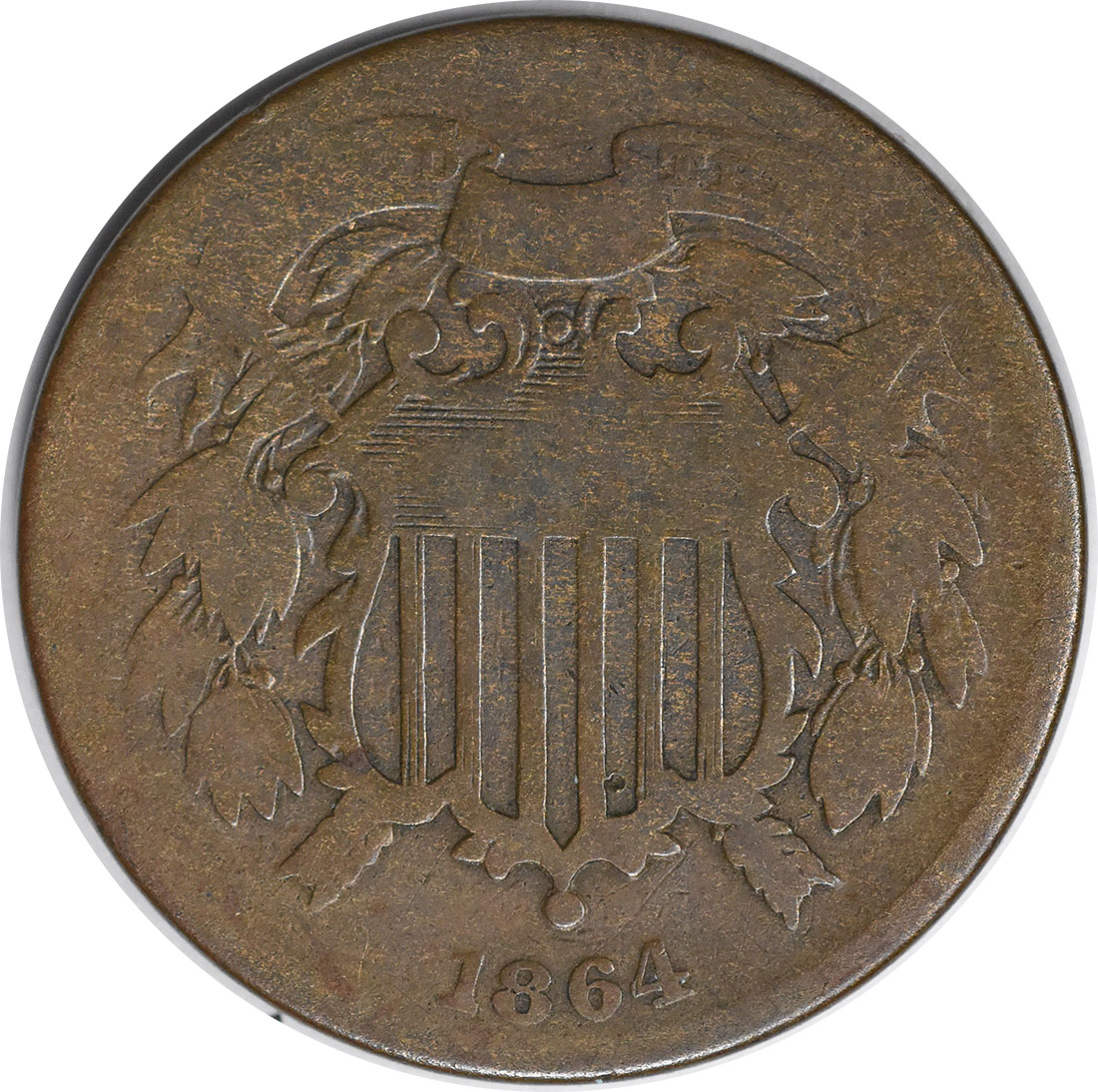 1864 Two Cent Piece Small Motto G Uncertified #138
