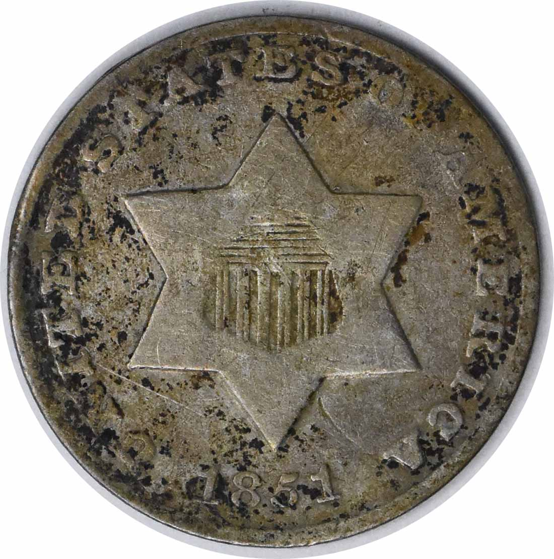 1851-O Three Cent Silver G Uncertified