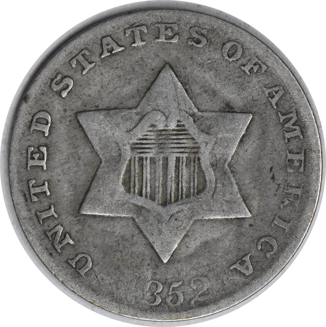 1852 Three Cent Silver F Uncertified
