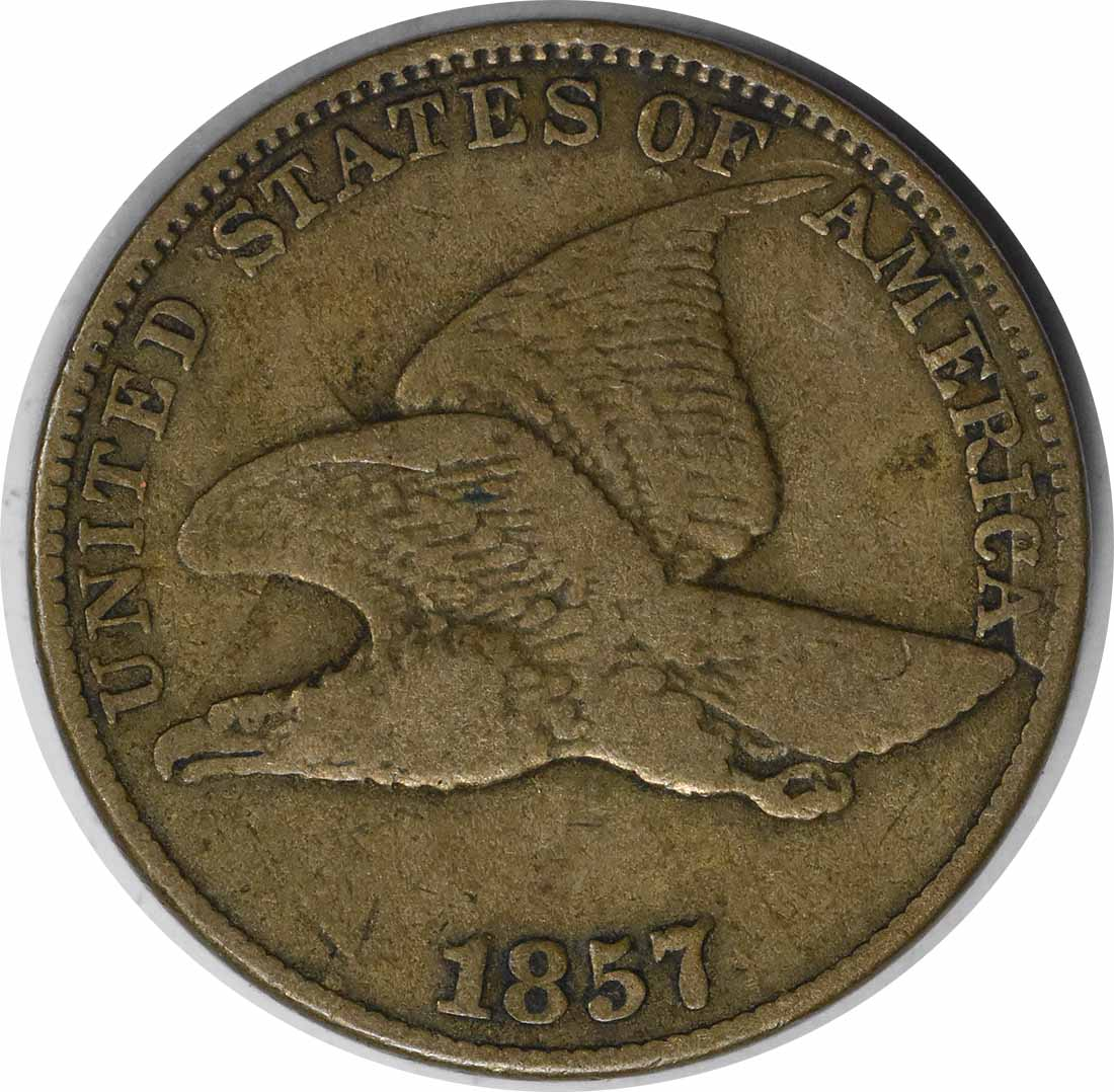 1857 Flying Eagle Cent Clash w/ Seated 50c FS-402 S-9 F Uncertified