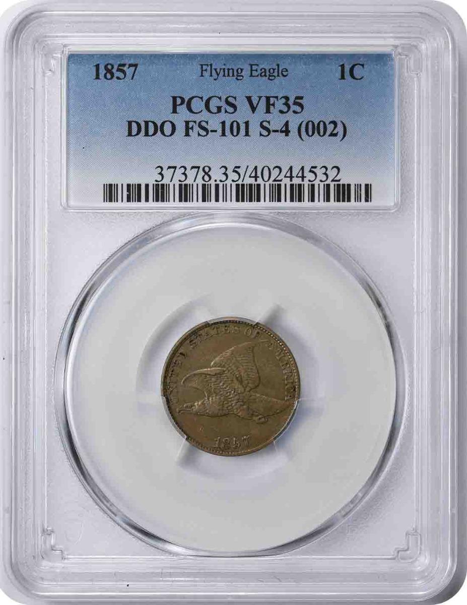 1857 Flying Eagle Cent DDO FS-101 VF35 PCGS