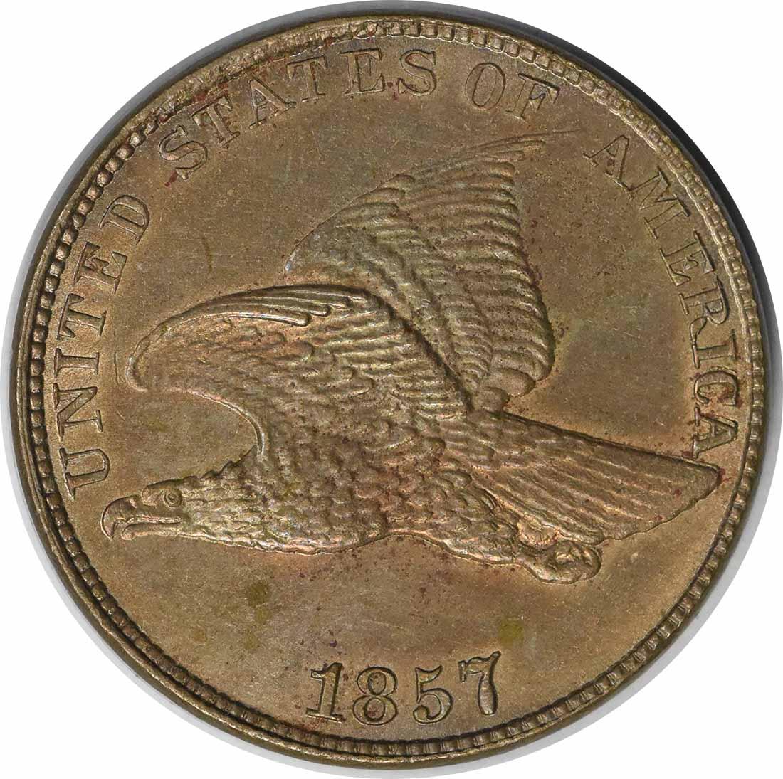 1857 Flying Eagle S-4 FS-101 MS60 Uncertified