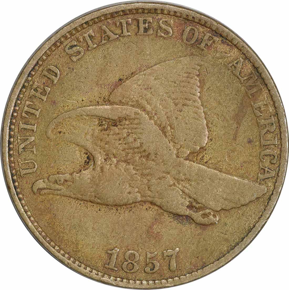 1857 Flying Eagle DDO S-4 FS-101 VF Uncertified