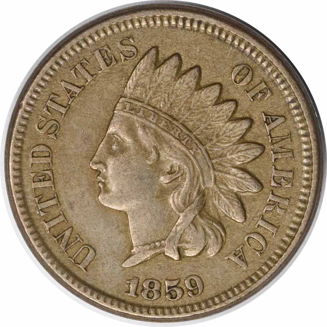 1859/1859 Indian Cent S-2 FS-302 AU Uncertified #111