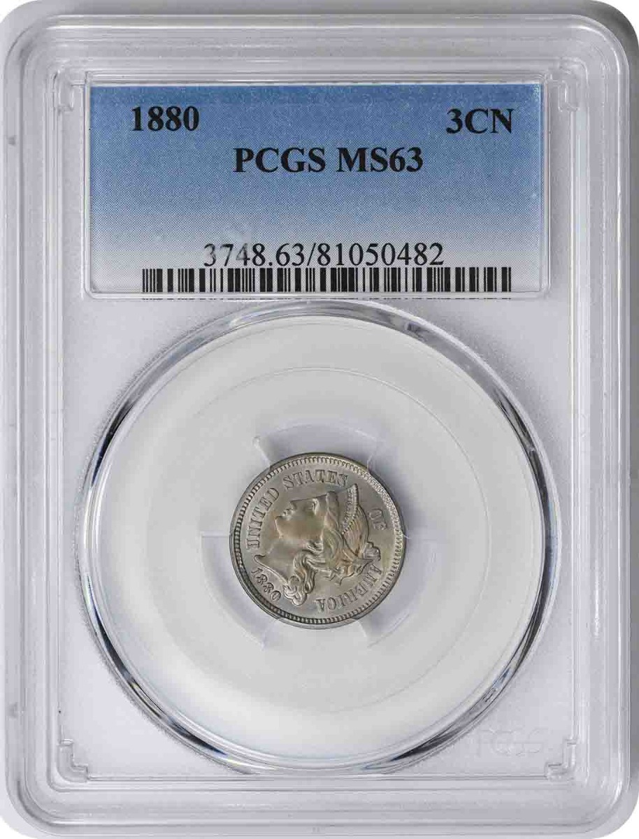 1880 Three Cent Nickel MS63 PCGS