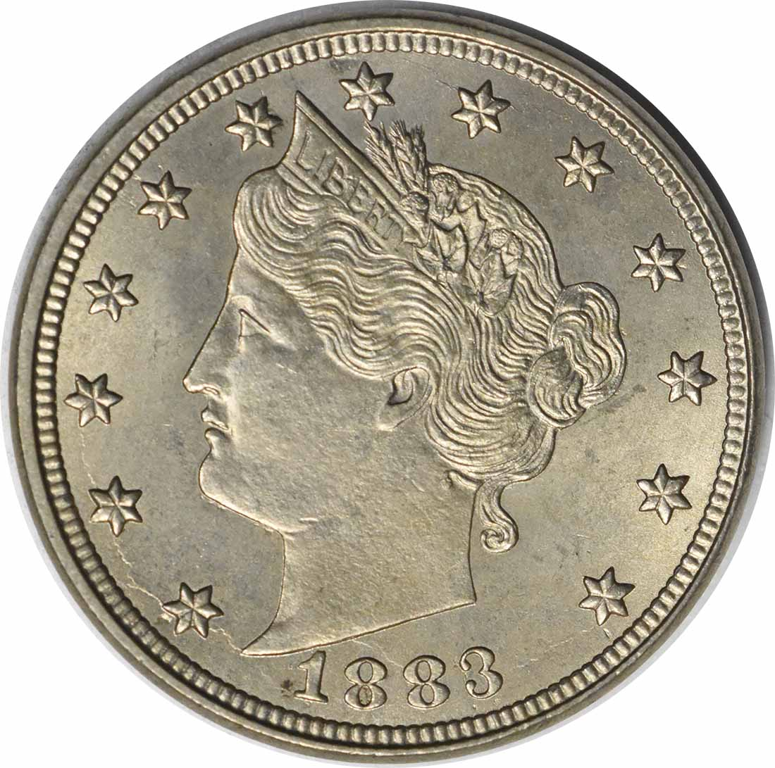 1883 Liberty Nickel No Cents MS64 Uncertified