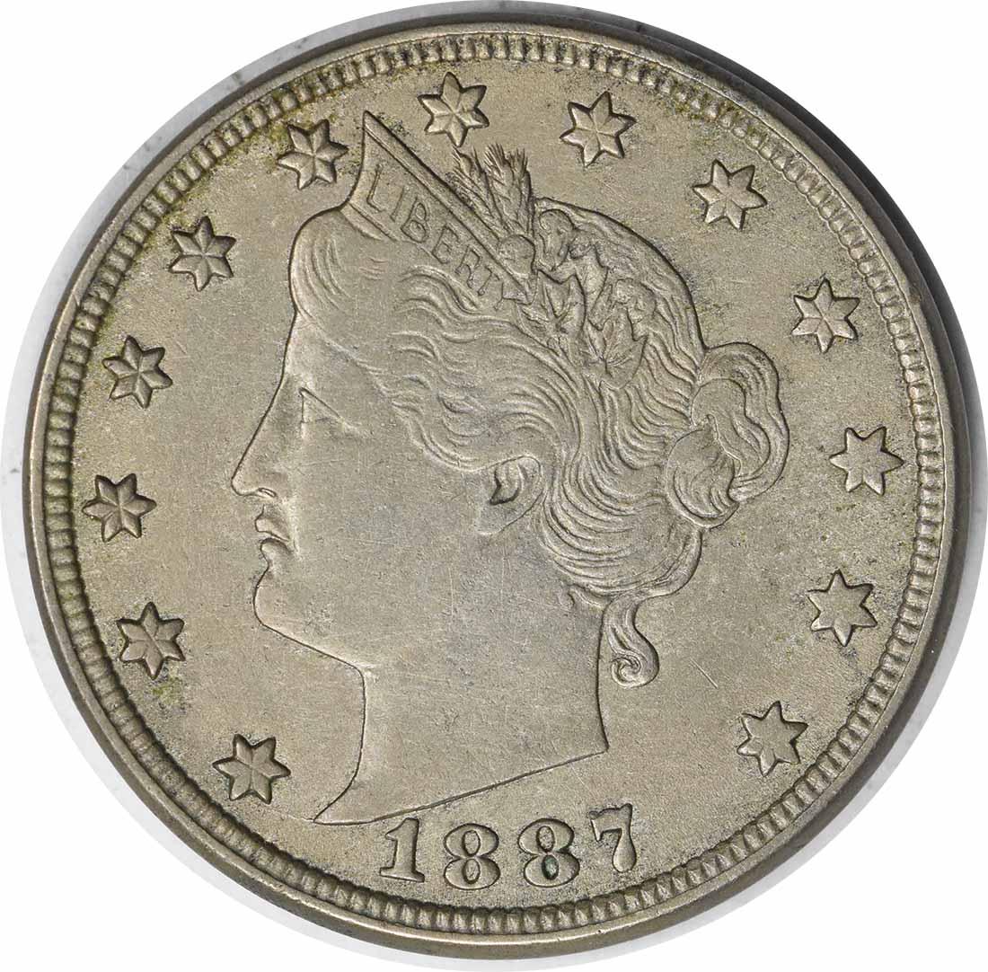 1887 Liberty Nickel DDO FS-801 EF Uncertified #213
