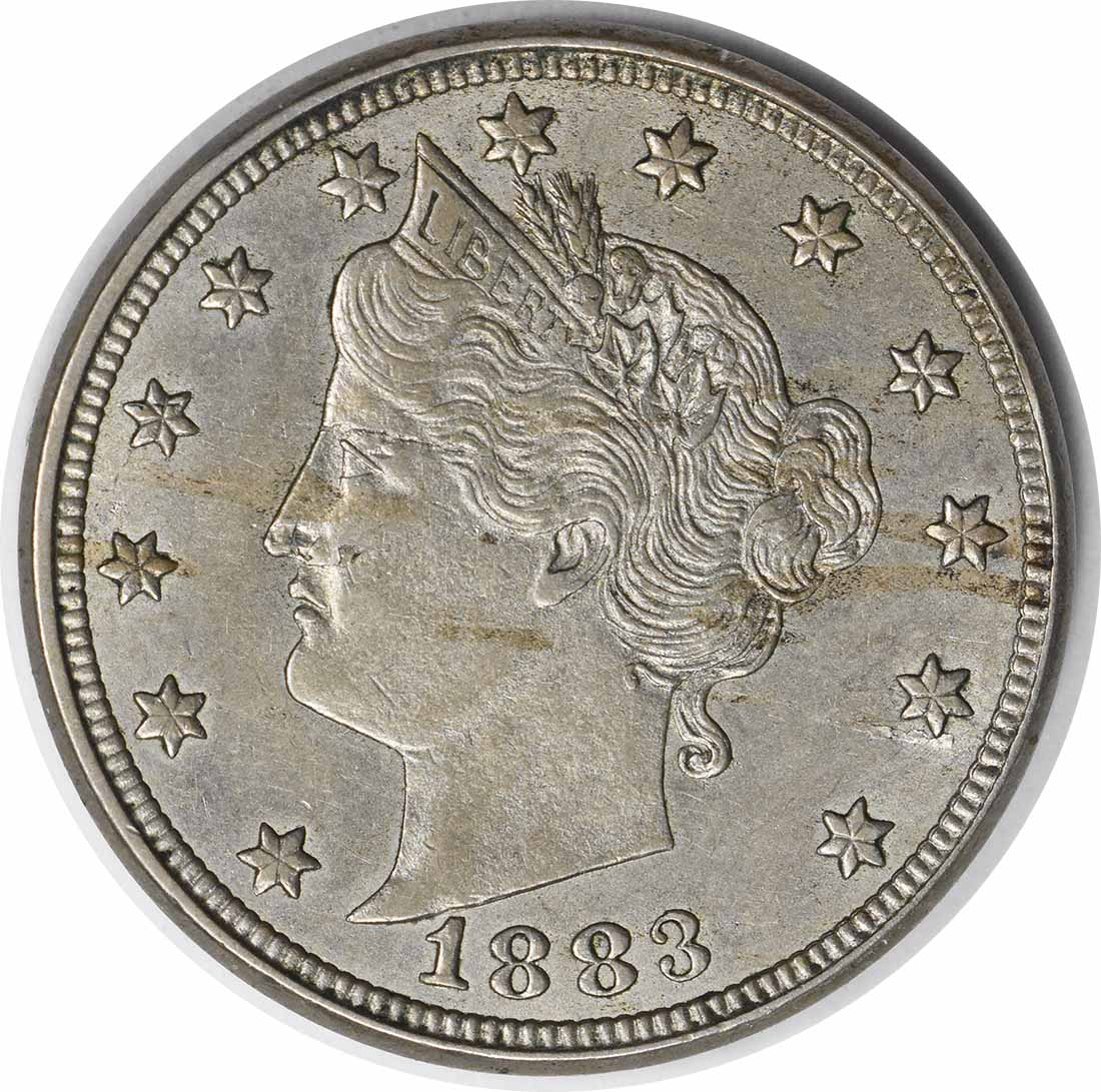 1883 Liberty Nickel With Cents AU58 Uncertified #1057