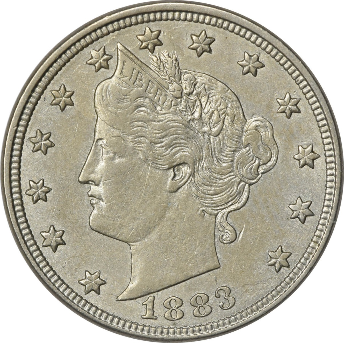 1883 Liberty Nickel With Cents AU Uncertified