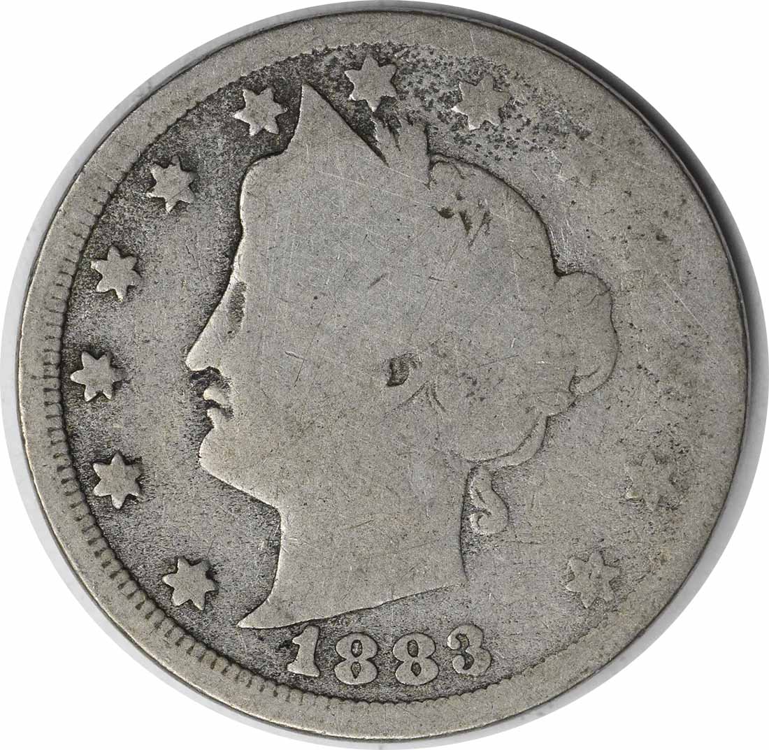 1883 Liberty Nickel, With Cents, G, Uncertified