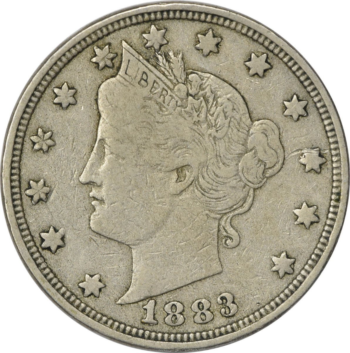 1883 Liberty Nickel With Cents VF Uncertified