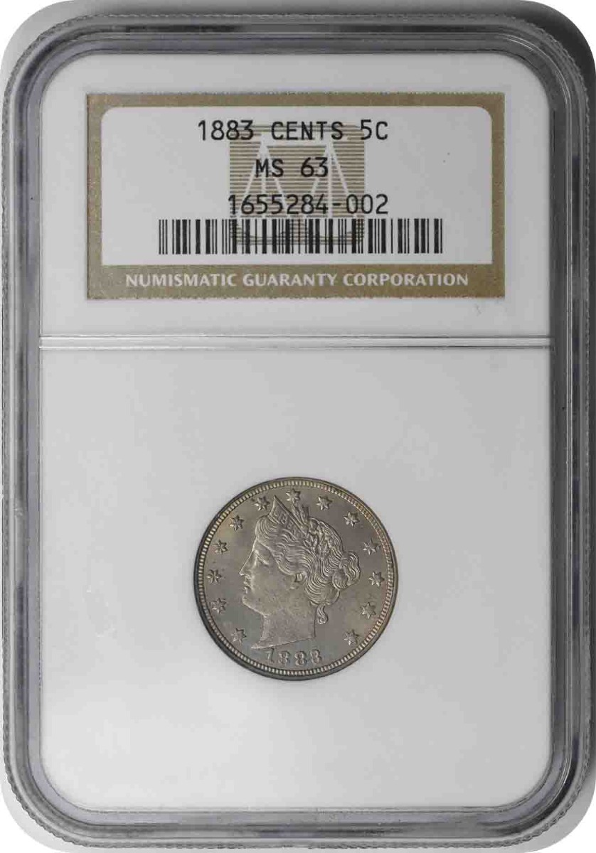 1883 Liberty Nickel With Cents MS63 NGC