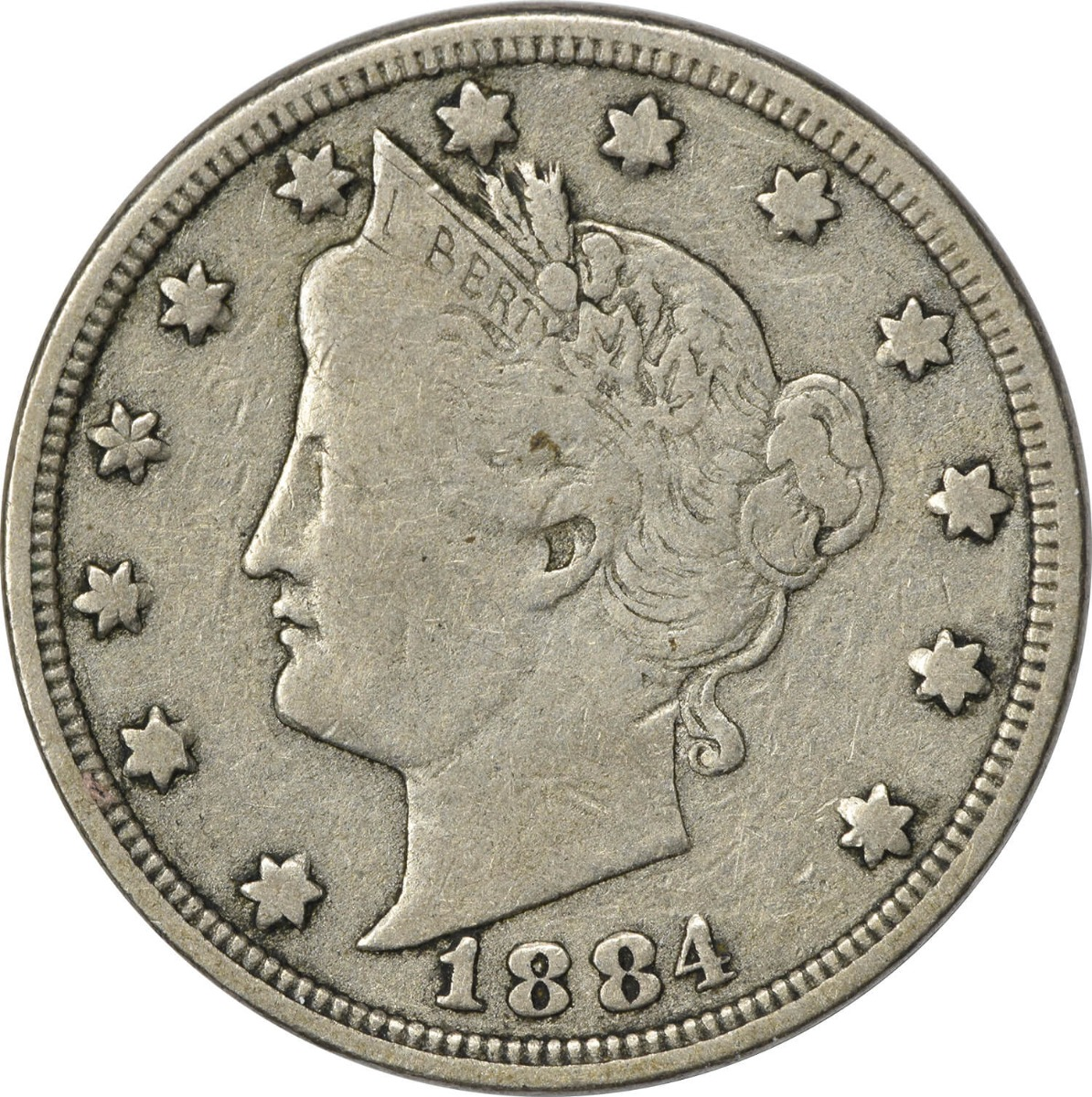 1884 Liberty Nickel, VG, Uncertified