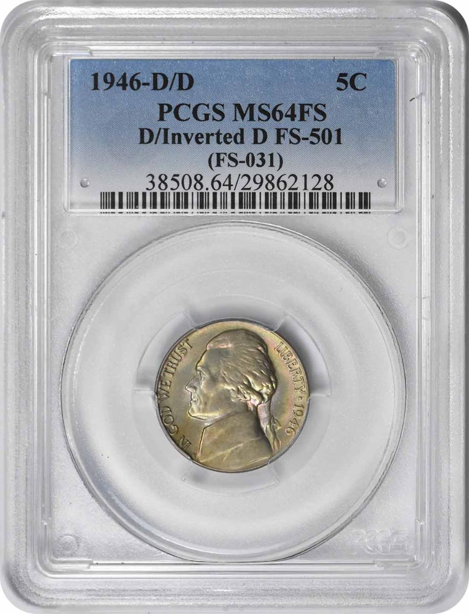 1946-D/D Jefferson Nickel FS-501 MS64FS PCGS