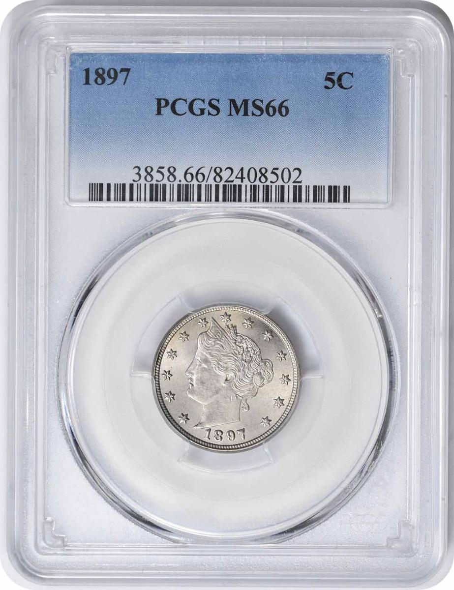 1897 Liberty Nickel MS66 PCGS