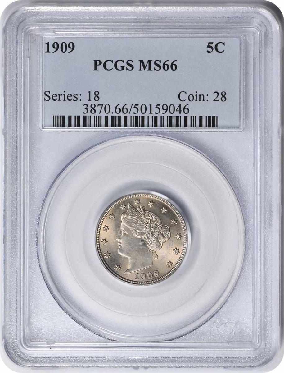 1909 Liberty Nickel MS66 PCGS