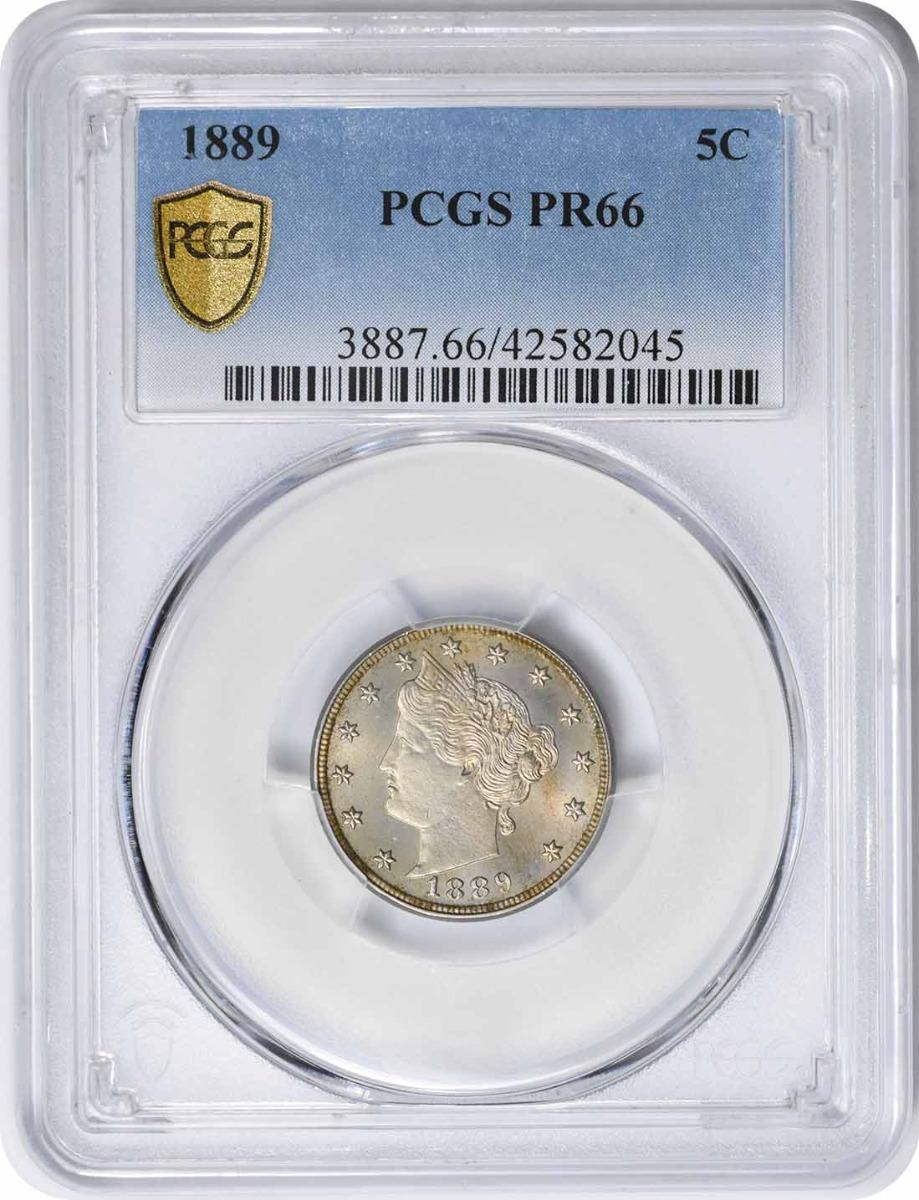 1889 Liberty Nickel PR66 PCGS