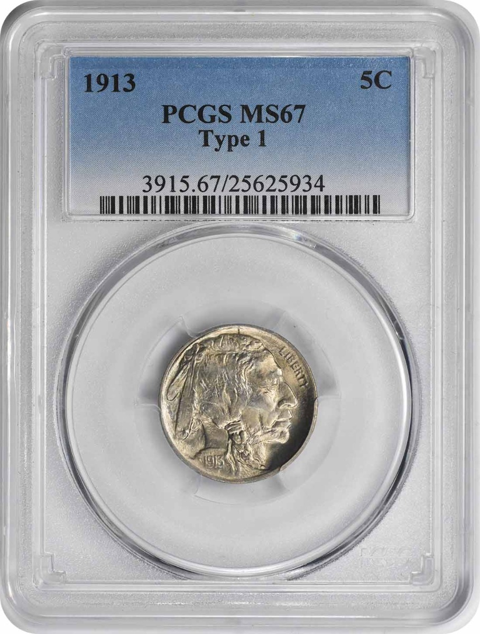 1913 Buffalo Nickel Type I MS67 PCGS