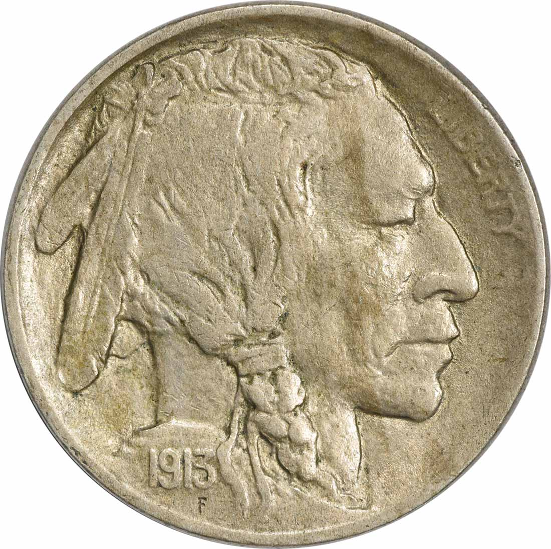 1913 Buffalo Nickel Type 1 EF Uncertified