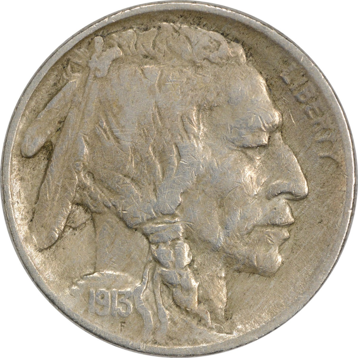 1913 Buffalo Nickel Type 1 F Uncertified