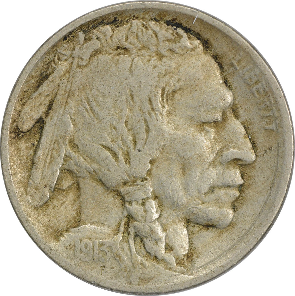 1913 Buffalo Nickel Type 1 VF Uncertified