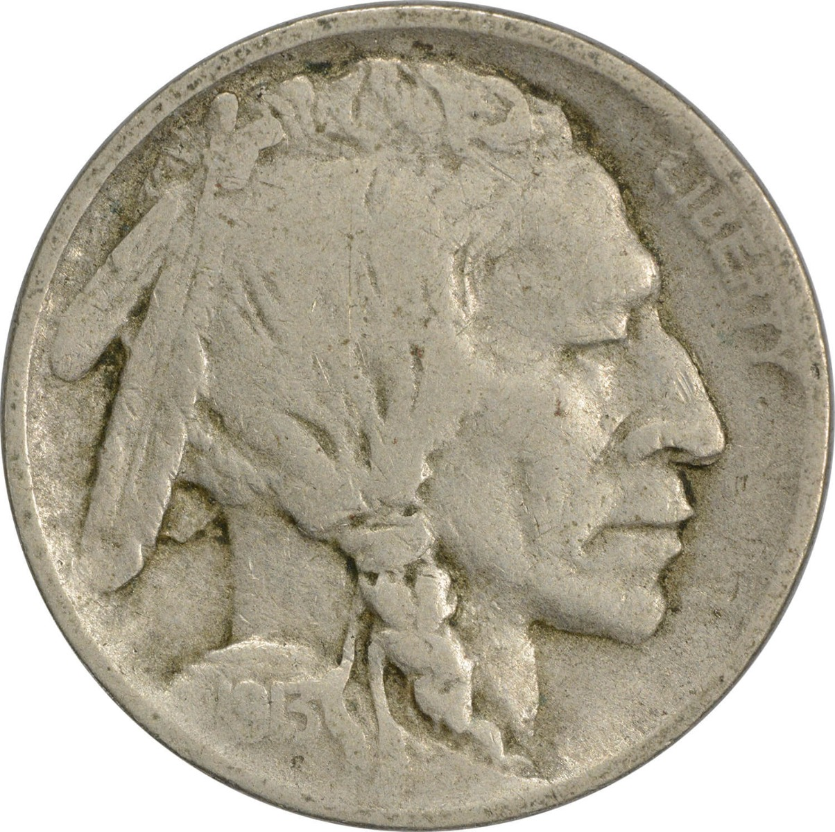 1913 Buffalo Nickel Type 1 VG Uncertified