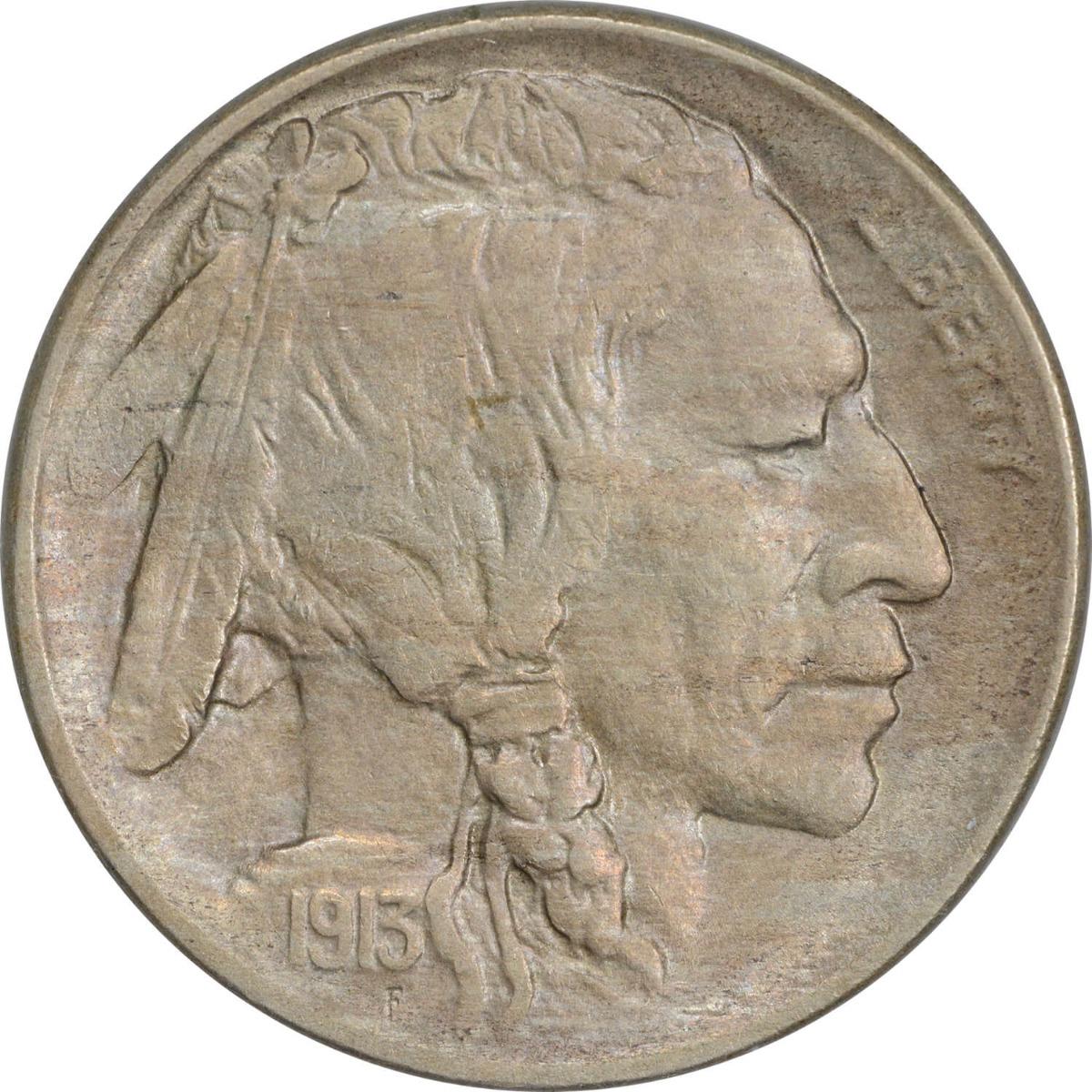 1913-D Buffalo Nickel Type 1 AU Uncertified