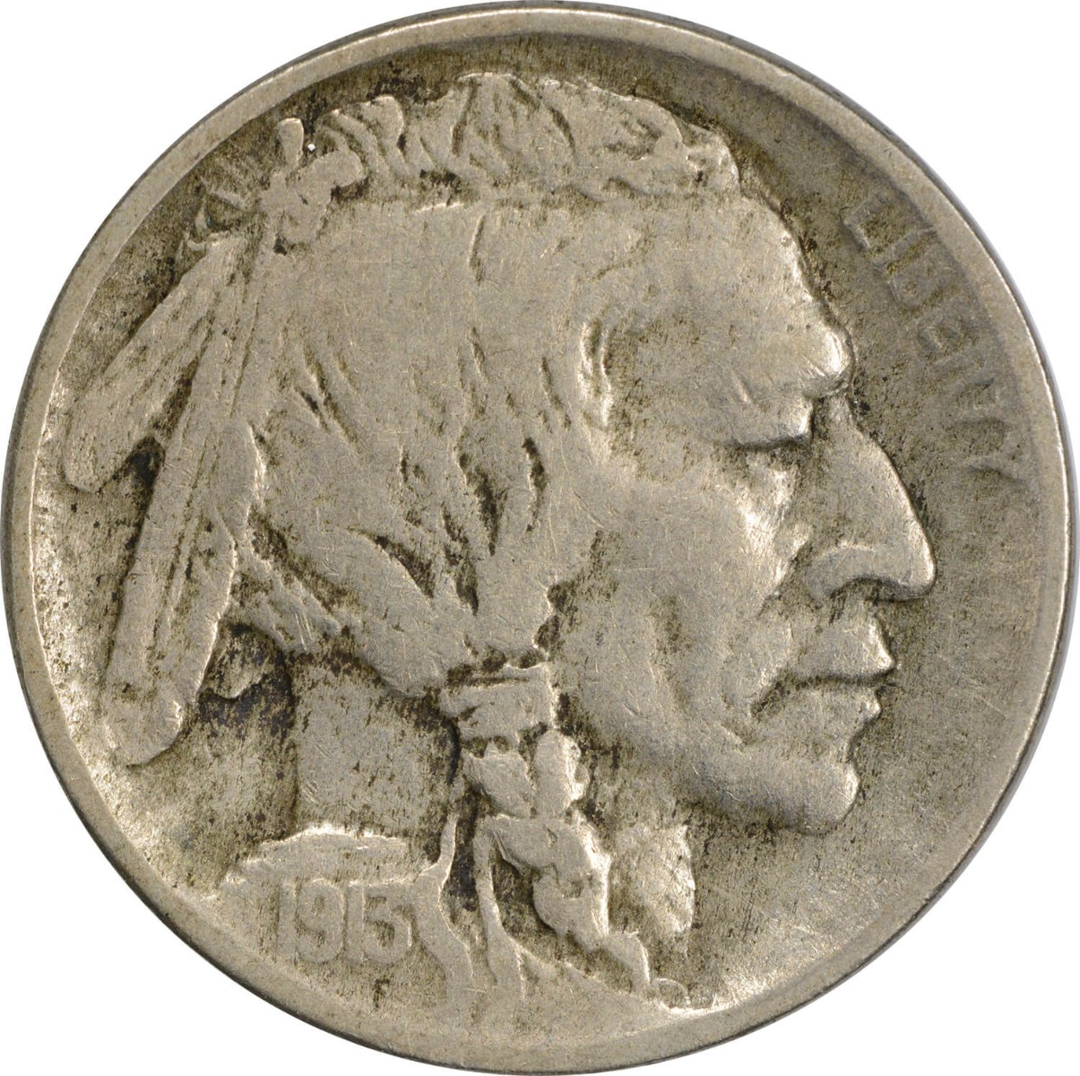 1913-D Buffalo Nickel Type 1 F Uncertified