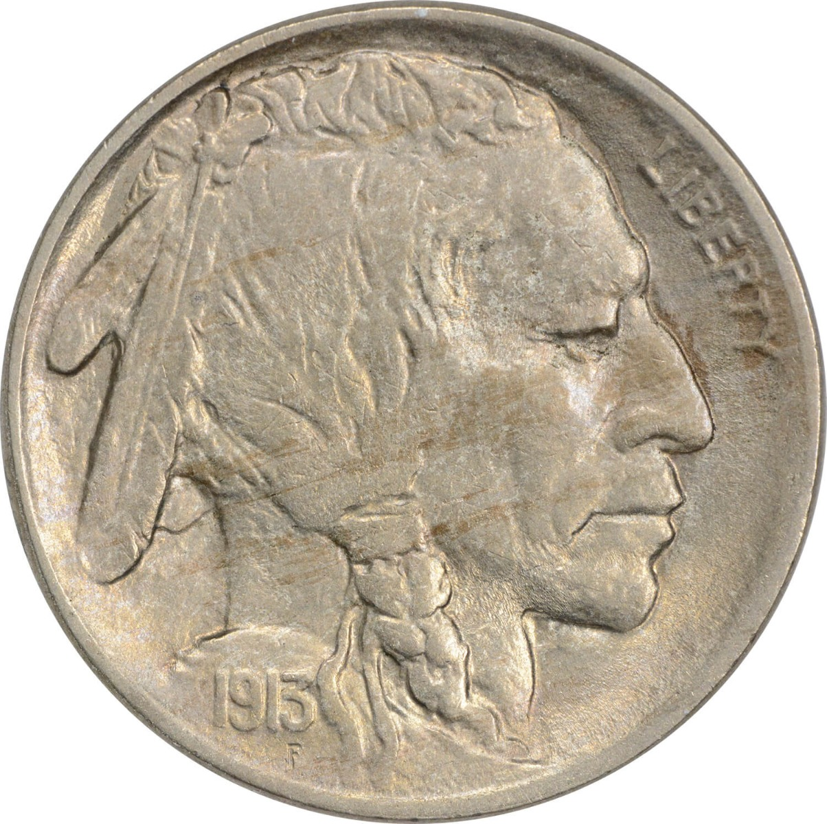 1913 Buffalo Nickel Type 2 MS63 Uncertified