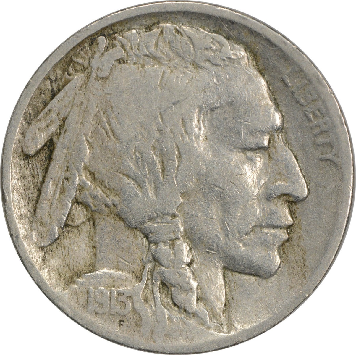 1913 Buffalo Nickel Type 2 F Uncertified