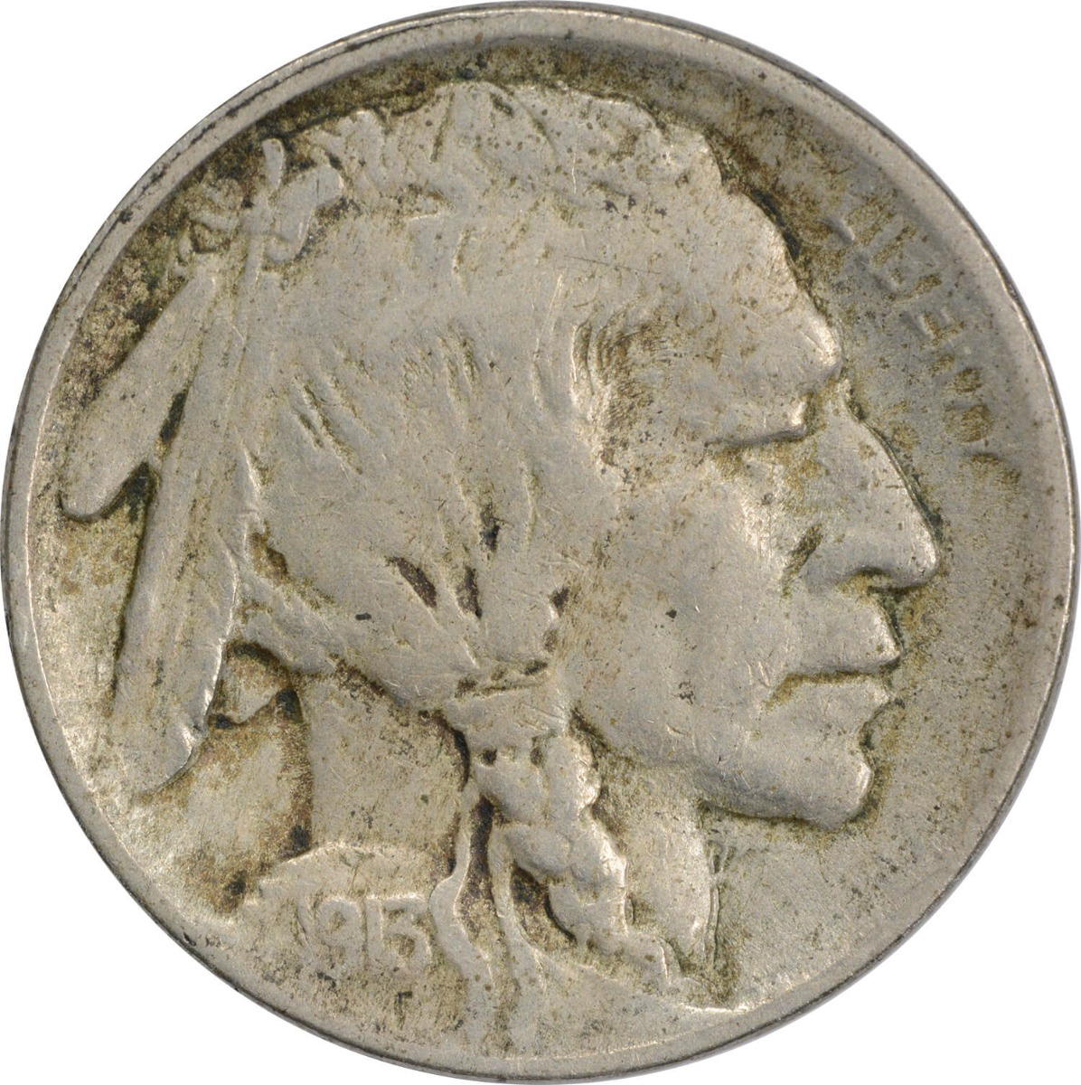 1913 Buffalo Nickel Type 2 VF Uncertified