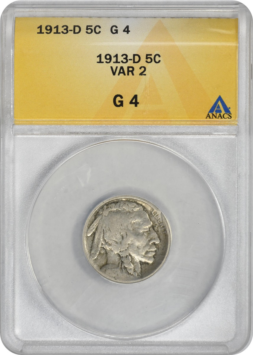 1913-D Buffalo Nickel Type 2 G04 ANACS