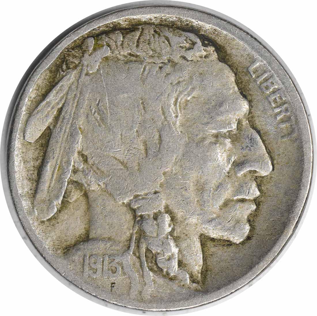 1913-D Buffalo Nickel Type 2 F Uncertified #242