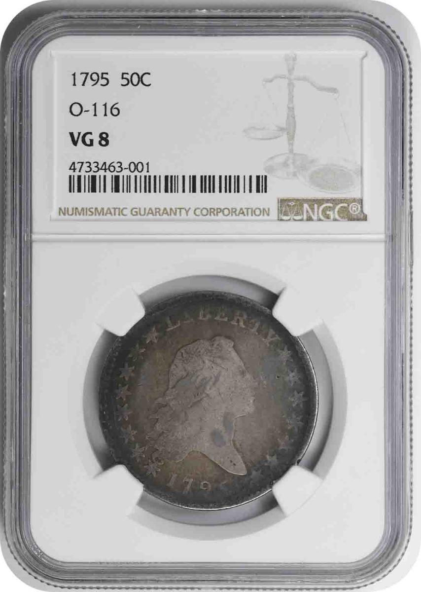 1795 Bust Silver Half Dollar Overton 116 VG08 NGC