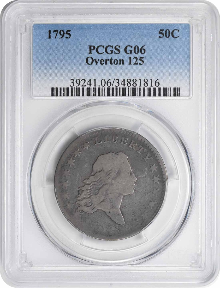 1795 Bust Silver Half Dollar Overton 125 G06 PCGS