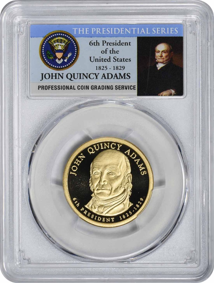 2008-S John Quincy Adams Presidential Dollar, PR70DCAM, PCGS