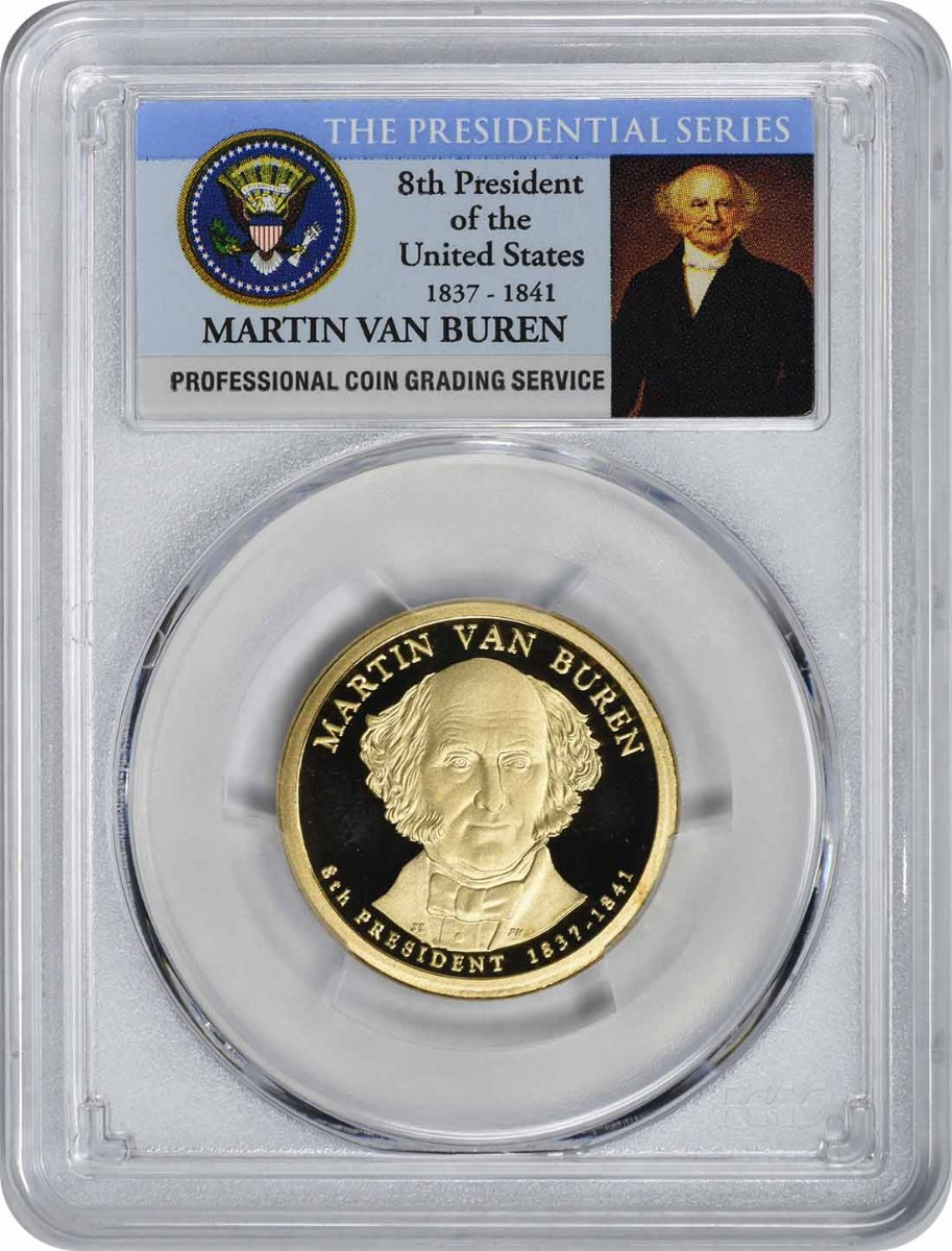 2008-S Martin Van Buren Presidential Dollar PR70DCAM PCGS