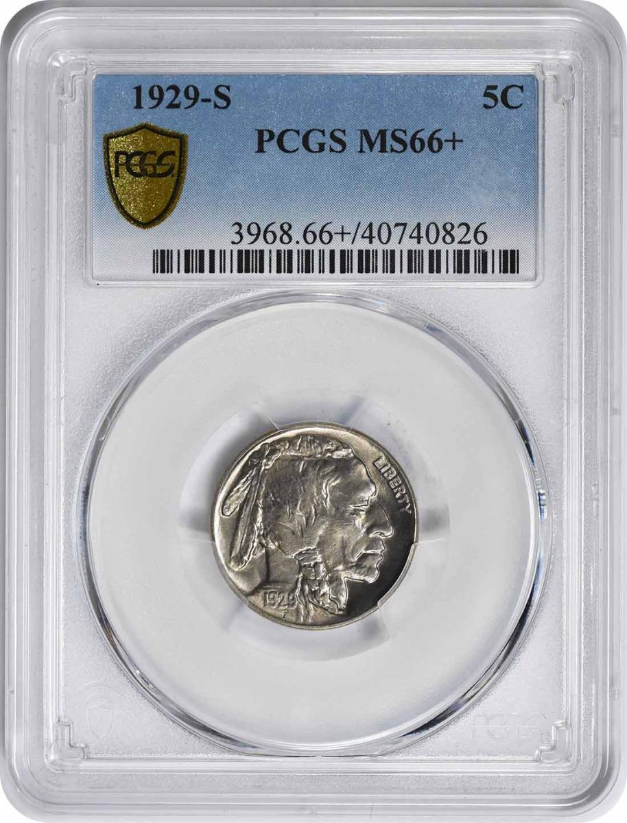 1929-S Buffalo Nickel MS66+ PCGS